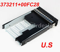 "3.5"" Tray Caddy 373211-001+ 00FC28 2.5"" Adapter For HP Proliant G6 ML350 ML370"