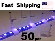 50 pack - LED Strip Light Hardware - 3528 SMD roll Mounting Clips with nail
