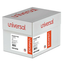 UNIVERSAL Green Bar Computer Paper 20lb 14-7/8 x 8-1/2 Perforated Margins 2600
