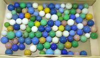 .LARGE JOB LOT MONOCOLOURED ANTIQUE / VINTAGE MARBLES.