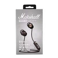 2019 NEW Marshall Minor II 2 (Black) Bluetooth Wireless In-Ear Headphones
