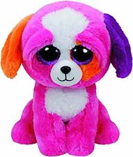 TY Beanie Boo Plush - PRECIOUS the Dog 15cm GLITTER EYES