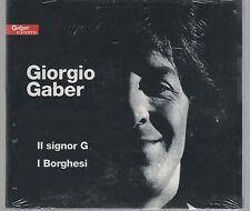 GIORGIO GABER IL SIGNOR G I BORGHESI - 2 CD DIGIPACK SIGILLATO!!!