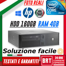 PC COMPUTER FISSO HP RP5700 SFF CPU INTEL CORE 2 DUO 4GB RAM HDD 160GB +WIN10!!!