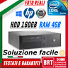 PC COMPUTER FISSO HP RP5700 SFF CPU INTEL CORE 2 DUO 4GB RAM HDD 160GB +WIN10!!!