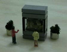 N/SCALE 250 GALLON FISH TANK AQUARIUM. (A) WITH  DETAILS..(●_●).(●_●).(●_●)..