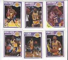 1989-90 FLEER LOS ANGELES LAKERS TEAM SET OF 6 CARDS MAGIC WORTHY ETC