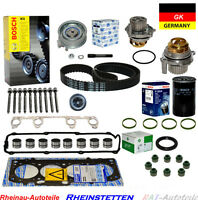 Zylinderkopfdichtungsatz Zahnriemensatz+WAPU+Ventilstößel Ölfilter SEAT VW AUDI