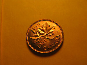 Canada 1951 Gem BU Small Cent Penny IDJ318.