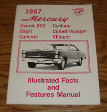 1967 Mercury Comet Cyclone Caliente Illustrated Facts Features Manual Brochure