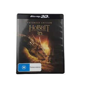 THE HOBBIT The Desolation Of Smaug Extended Edition 3D + 2D Blu-ray 5 X Reg B