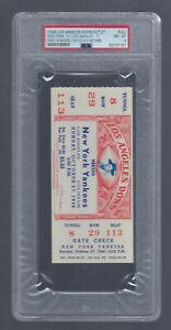 PSA 8 - 1946 NFL AAFC FULL TICKET NEW YORK YANKEES @ LA DONS SANDERS 103 YD RET