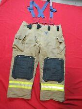 Mfg 2011 Morning Pride Fire Fighter Turnout Pants 48 X 29 Bunker Gear Suspenders