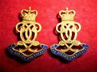 The Queen's Own Hussars Officer's Collar Badge Pair, British Army