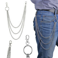 Three Strands Biker Link Keychain Jean Wallet Chain 3 Layer Pant Keychains