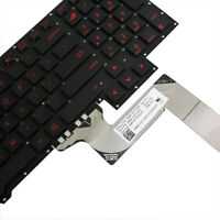 US Keyboard For ASUS ROG G751JM-BHI7T25 G751JL-BS17T28 G751JT-CH71 RED Letter