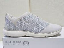 Geox scarpe donna D Nebula sneakers Pelle+tessuto a maglia Off White Eu-37 €130