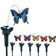 Vibration Butterfly Solar Powered Color Flying Fluttering Outdoor Garden Decor