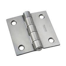 """100 Pk Plain Steel Finish 2"""" Square Tight-Pin Broad Door Hinge N140368"""