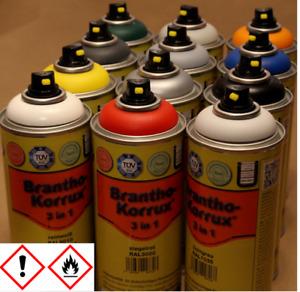 """(52,50€/l)400ml Brantho Korrux 3in1 Komfort-Sprühdose """"Die 1K Rostschutzfarbe"""""""