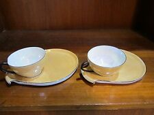 Bavaria Beige Luster Ware Luncheon Plates and Cups
