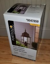 "NEW Portfolio Litshire 17"" Oil Rubbed Bronze Post Light Outdoor Light Lantern"