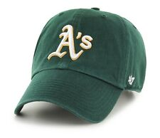 Oakland Athletics 47 Brand Green Clean Up Adjustable On Field Cotton Hat Cap MLB
