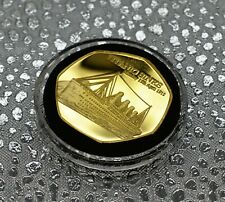 RMS TITANIC SINKS 24ct Gold Commemorative in Capsule. Ocean Liner, White Star