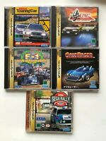 Lot5 SEGA SATURN Racing game set (Rally F1 touge TouringCar) SS JP NTSC-J (Japan