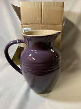 Le Creuset Cassis Purple Plum  Stoneware 2 Quart Water Milk Flower Pitcher NEW