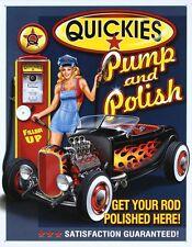 Hot Rod Distress Retro Vintage Decor Metal Gas Tin Sign Man Cave Garage Basement