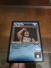 WWE Raw Deal CCG The Rock Do You Smell What The Rock Is  !! FREE SHIPPING !!