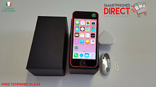 Apple iPhone 5c Pink - 16GB - Network Unlocked - FREE Tempered Glass
