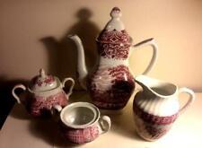 c.1828 Victorian STAFFORDSHIRE tea set 4 pieces ORIGINAL FROM ENGLAND
