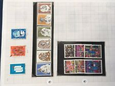 UNO United Nations stamps on album pages