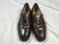 ae094c0b32 Cole Haan Mens 11.5M Brown Leather Edwin Penny Loafer Shoes