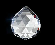 Set of 5 - Asfour Clear Crystal Ball Prisms 701-30 mm Chandelier Crystals Parts