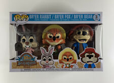 FUNKO POP DISNEY EXCLUSIVE SPLASH MOUNTAIN 3 PACK BR'ER RABBIT FOX damaged box