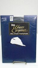 Leggs Sheer Elegance Silky Sheer Pantyhose Size AB Black Shadow
