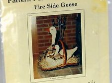 FIRESIDE GEESE Holiday Craft SEWING Pattern & Instructions 1984 Wanda's Designs