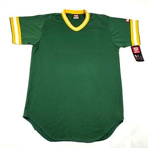 Vintage Wilson Mens L Green Yellow Jersey V Neck Green Bay Packers Made in USA