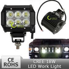 LED Off Roadling Fog Lights For all CAR's (18W, 6 LED's, 3W Pure White Each).
