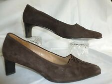 GABOR  BROWN SUEDE  COURT SHOES  UK  7.5  MADE IN AUSTRIA
