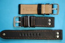 Extra stabiles Flieger Uhrband  24mm dunkelbraun Deutscher Hersteller