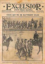 Prisonniers Feldgrauen Pickelhaube Deutsches Heer Bataille de la Marne WWI 1915