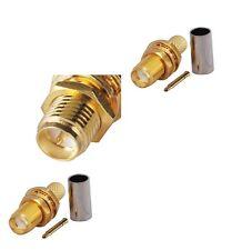 RP Sma Hembra Crimp Connector x 2 para RG316 RG174 F9664K Cable