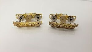 BRASS 2 TRUCK PAIR REPLACEMENT WHEEL ASSEMBLY NO COUPLER,KIDSTOYZ® 2021
