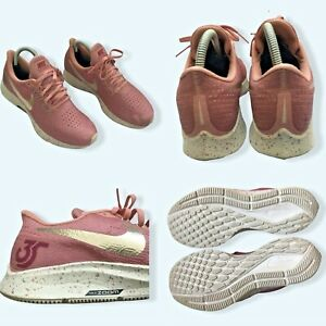 Nike Zoom Pegasus 35 Rose Pink Paint Splatter Trainers Size UK 5 Used VGC