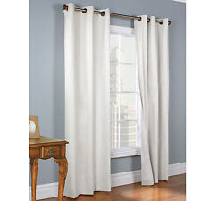 2 GROMMET PANEL TEXTURE WINDOW CURTAINS  FOAM LINED 99% BLACKOUT THERMAL K34 63""
