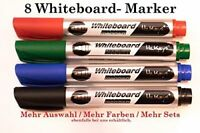 Whiteboard Marker 8*schwarz Board-Flipchart Marker Whiteboard Stifte Set HilKeys